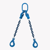2 Leg Adjustable Lifting Chain Sling - Clevis Selflock Hook - G100